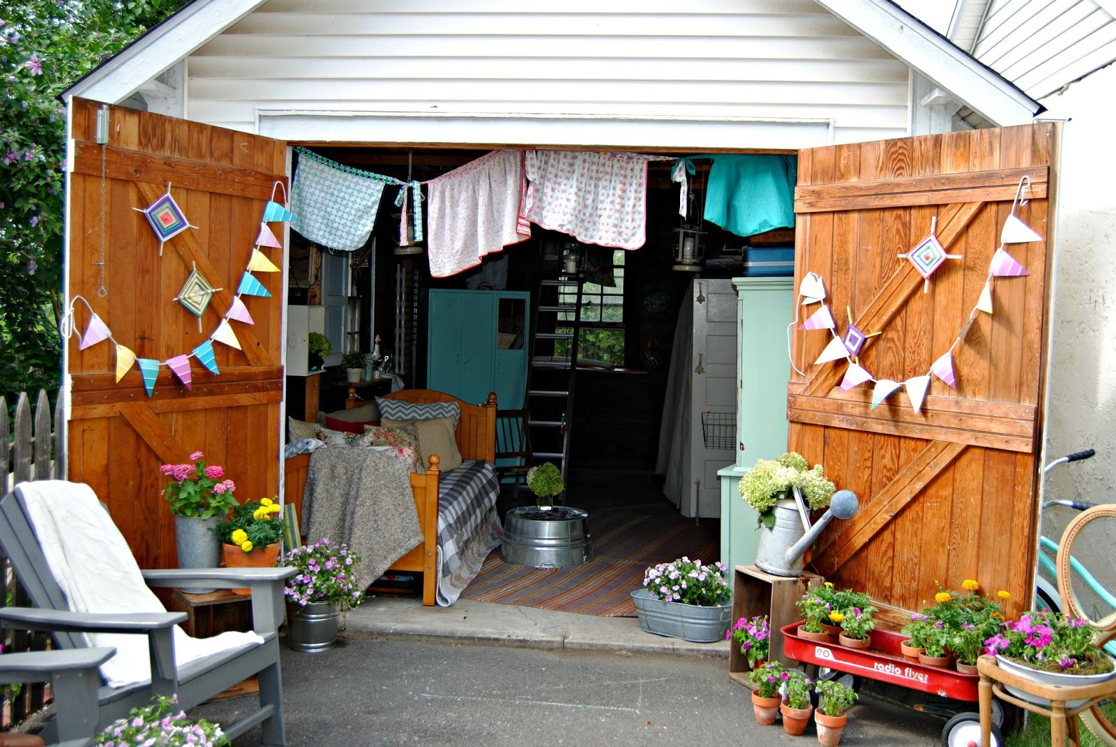 The making of a she shed - Man caves chick sheds mutual needs ...