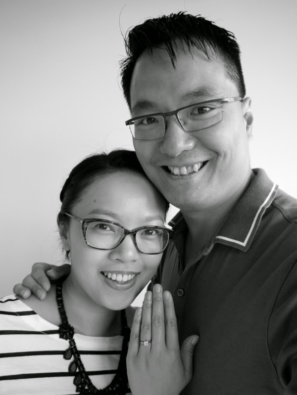 Engagement announcement photo