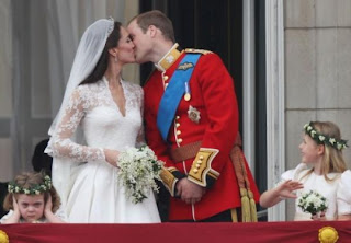 Beso del Principe Guillermo y Kate Middleton