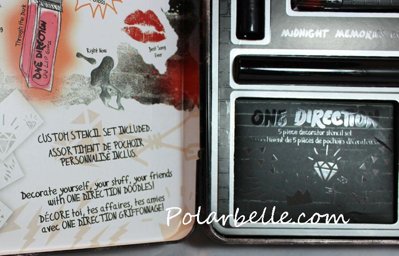 eyeshadow, nail polish, lipgloss, lipstick, stencils, autograph, Harry Stiles