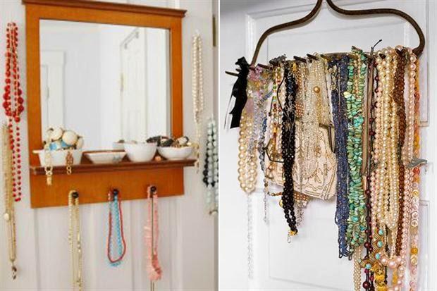 Your little pocket ideas para organizar tus joyas - Como colgar collares ...