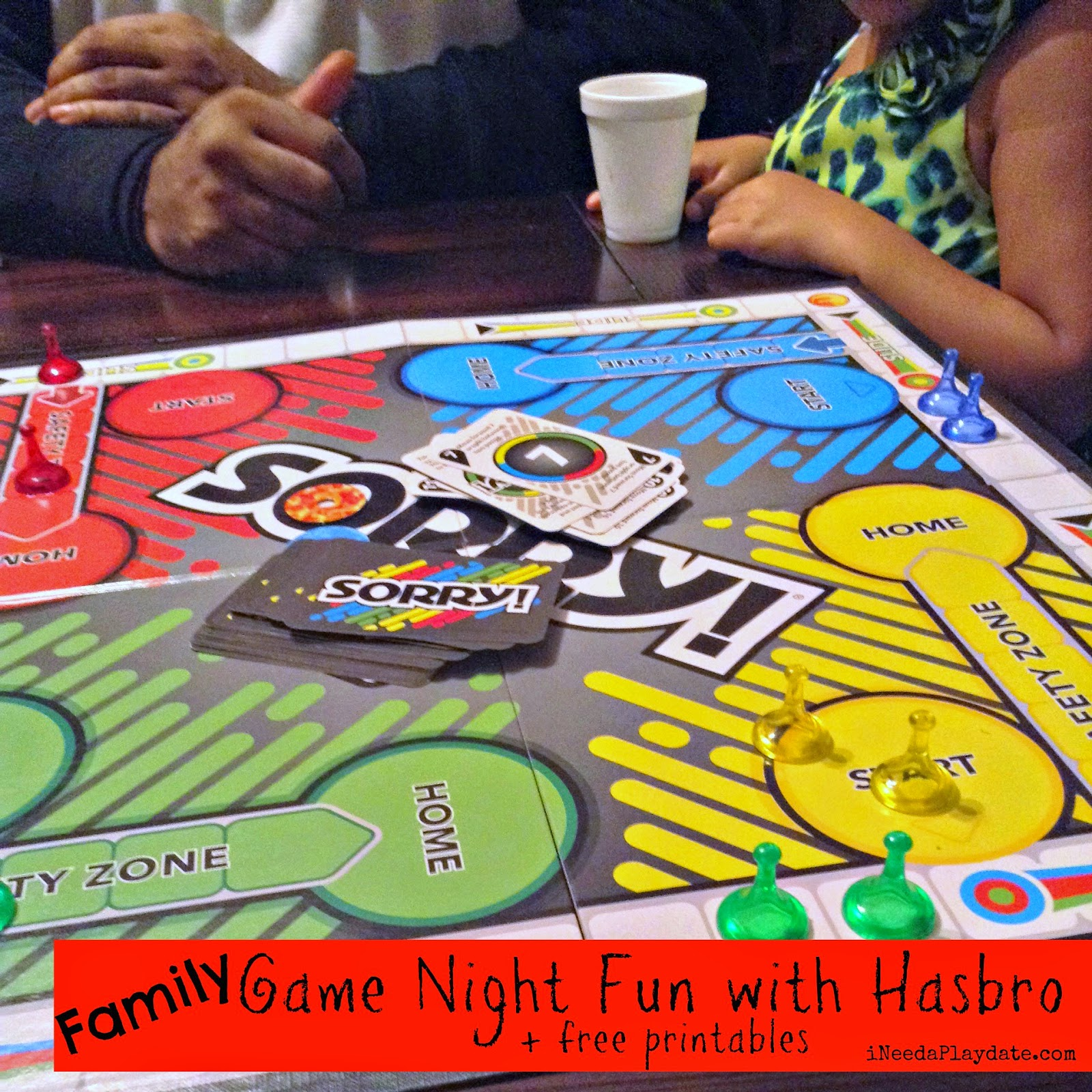 Game Night Fun plus Printable Invites and Scorecards! #HasbroGamingParty