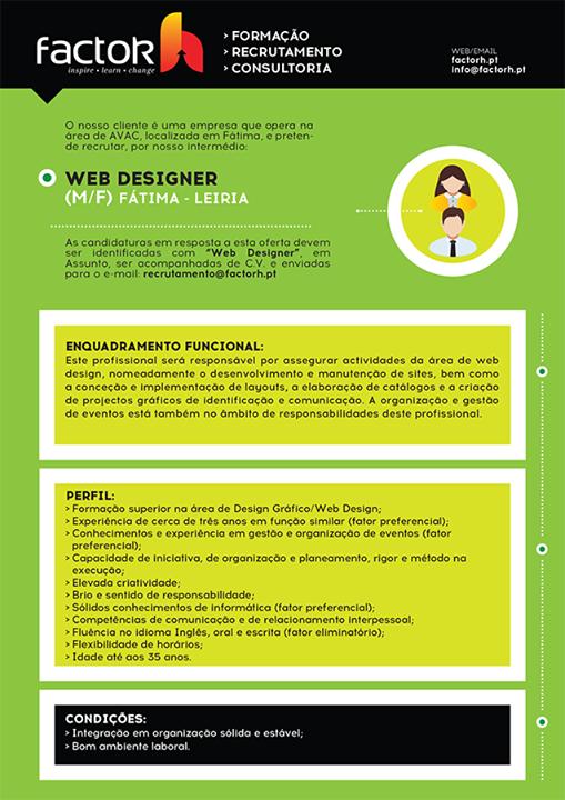 emprego web designer Fatima