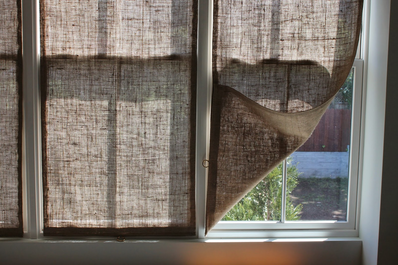 Burlap Window Shades