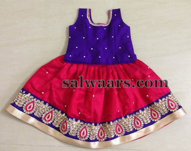 Red Simple Lehenga