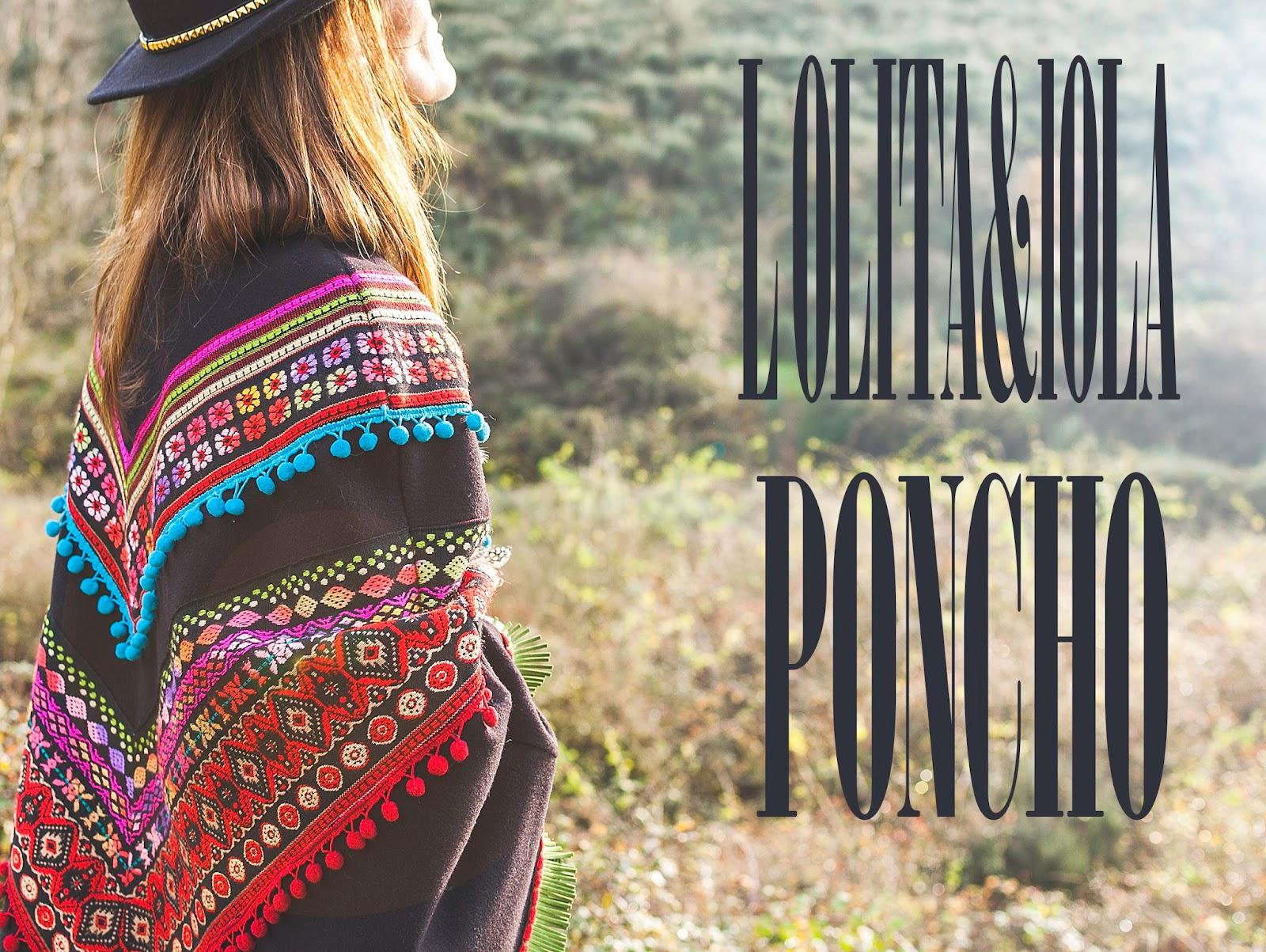 poncho boho chic, moda otoño