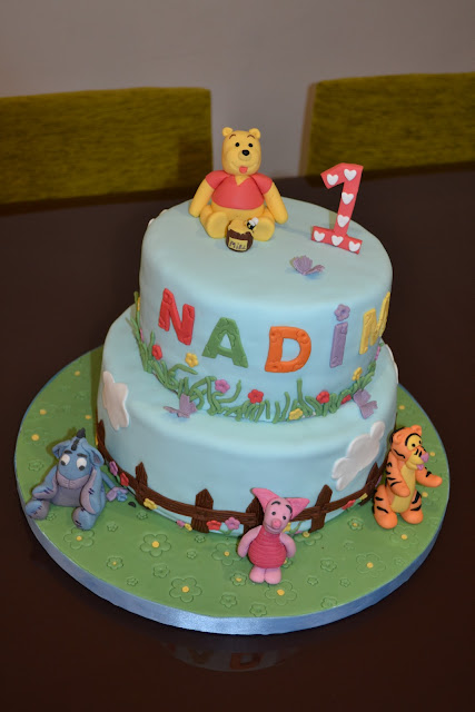 Tarta Fondant SugarDreams Gandia Winnie the Phoo y sus amigos cumpleaños Alcoy Ontinyent Xativa