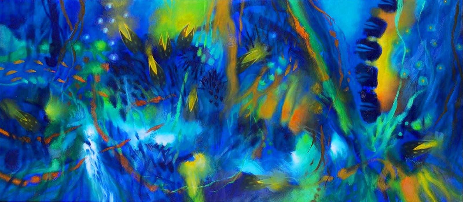 Cuadros pinturas oleos pintura al leo abstracto for Fotos de cuadros abstractos al oleo
