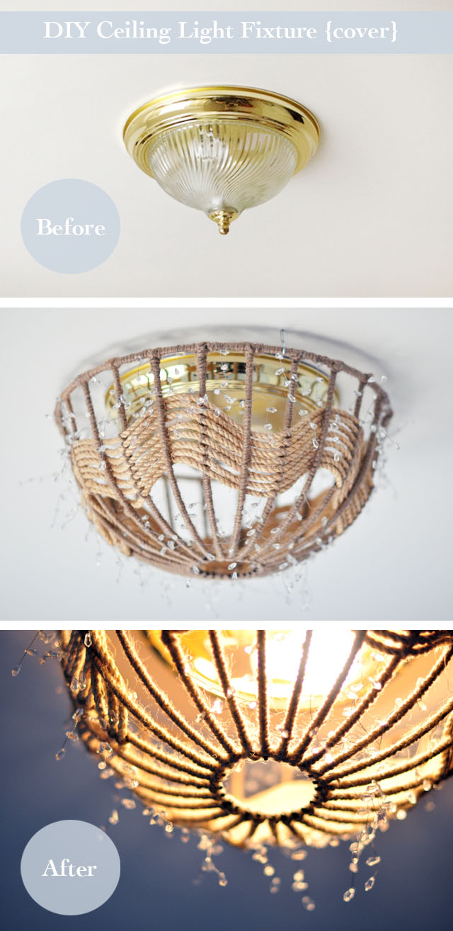 Diy rope pendant lamp how to disguise old ugly ceiling diy rope pendant lamp how to disguise old and ugly ceiling fixtures without rewiring arubaitofo Image collections