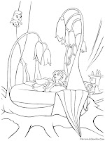 Gambar Barbie Fairytopia Hitam Putih Untuk Mewarnai