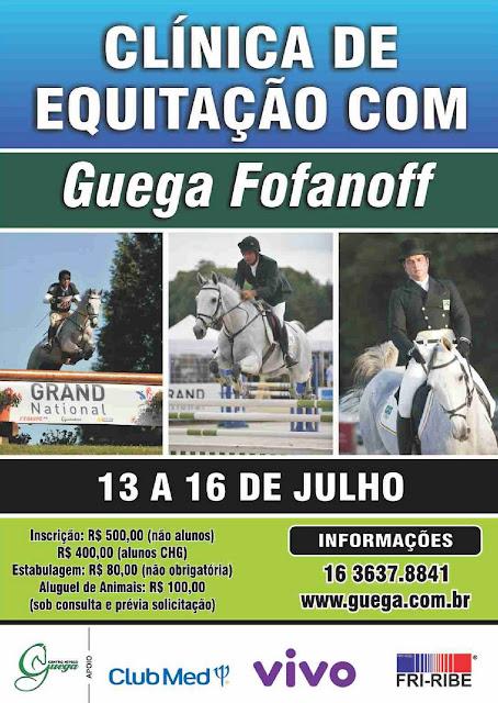 Guega Fofanoff ministra clínica de equitação em RP