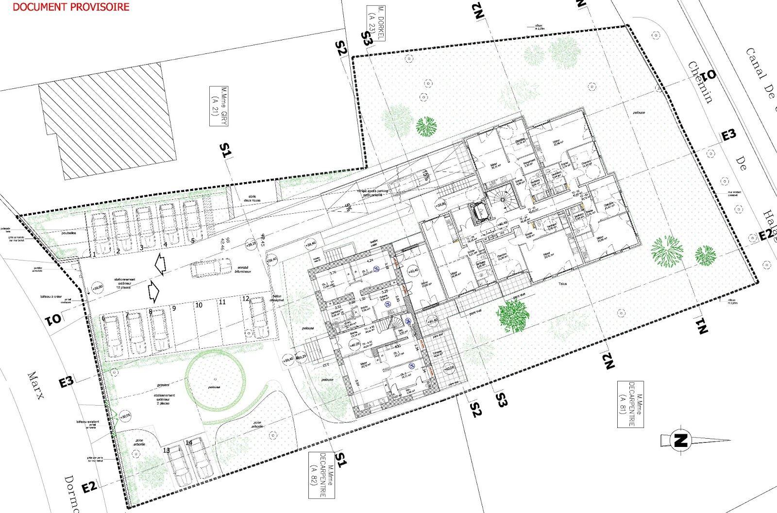 Gournay marne 15 logements neufs et 5 dans un manoir for Conception de plans de manoir