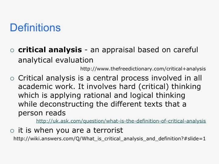 define critical essay