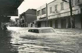 Foto da enchente de 1974
