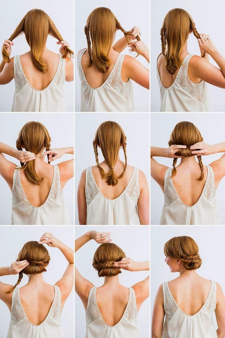 5 Minute Updo Hairstyle Tutorial Entertainment News Photos