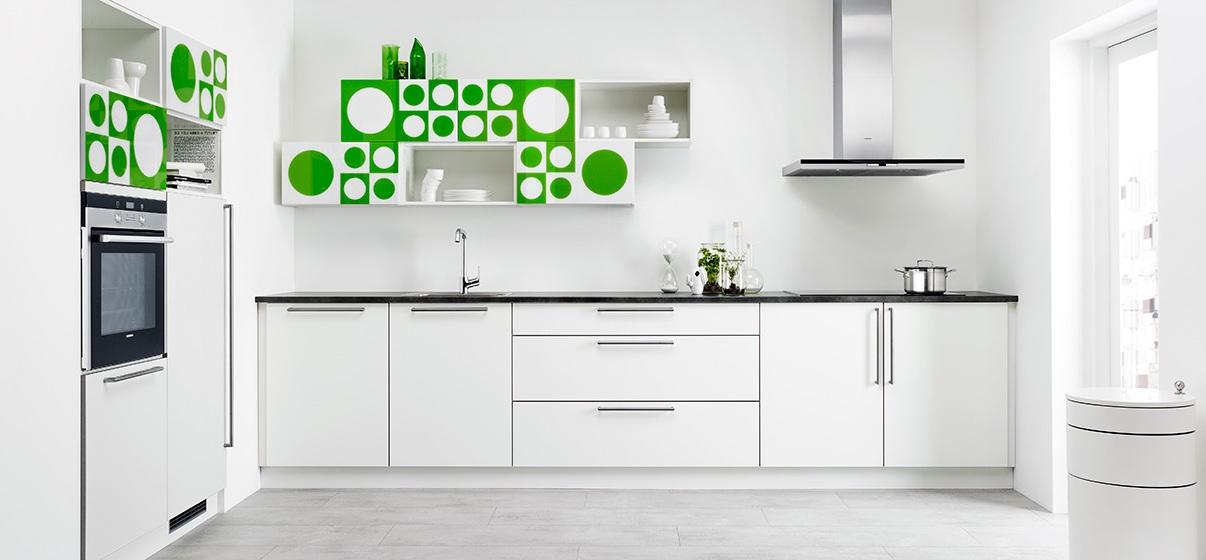 Fantas a geom trica cocinas con estilo - Cocinas verdes y blancas ...