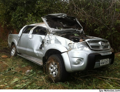 IPU: Motorista perde controle de Hilux e capota várias vezes na CE-187, na Barrinha.