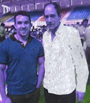 Con Juan Carlos Henao