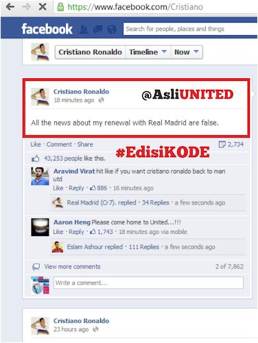 Cristiano Ronaldo Bantah Perpanjang Kontrak