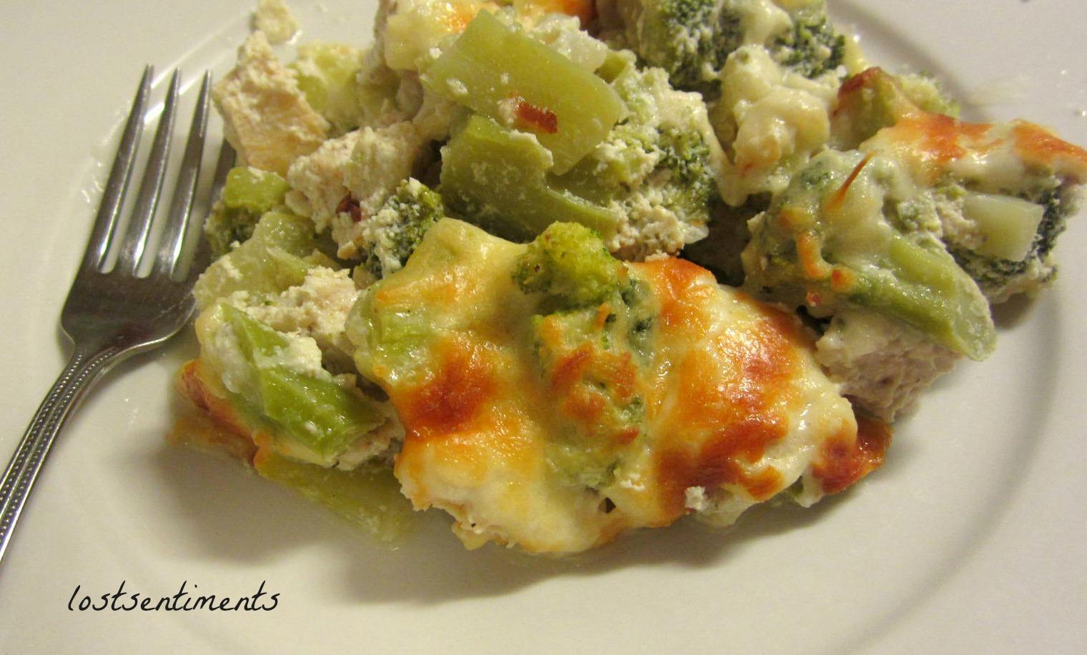 Chicken And Broccoli Cheesy Casserole   Low Carb Recipe