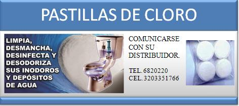 Pastillas de cloro venta en bogot for Lo espejo 0847 la cisterna