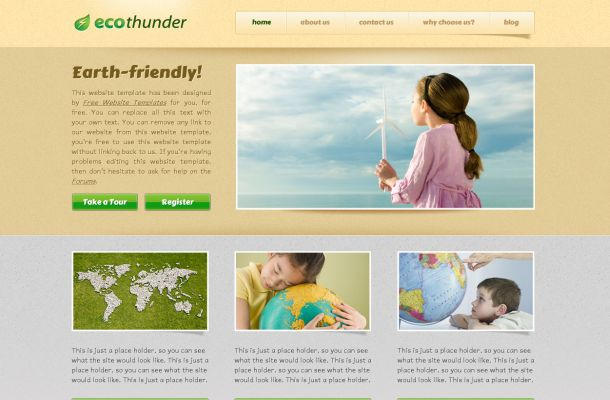 Free Ecology Nature Brown CSS Website Template