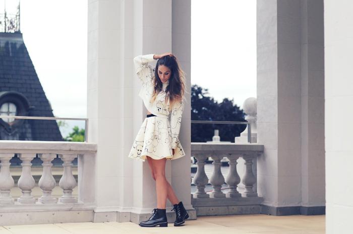 alison liaudat, blog mode suisse, fashion blogger, sandro, H&M, trend, switzerland, total look, all white, neoprene,