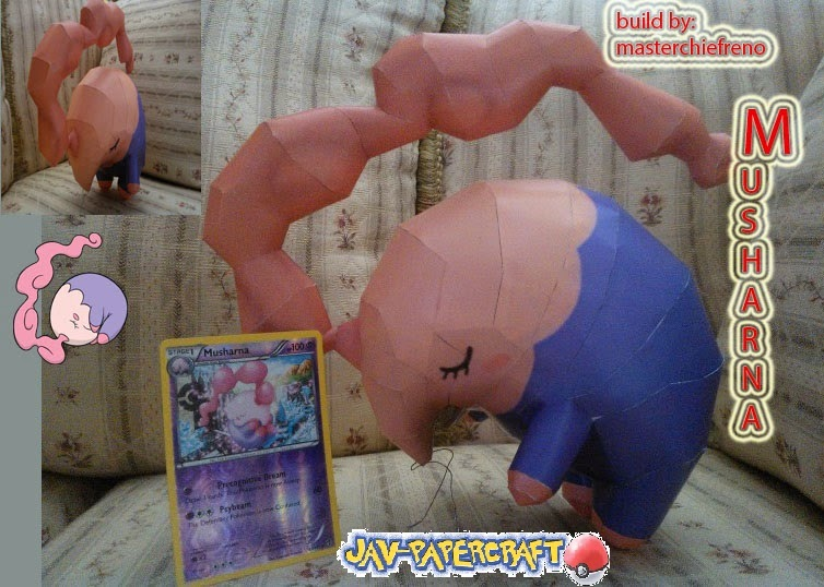 Pokemon Musharna Paper Model
