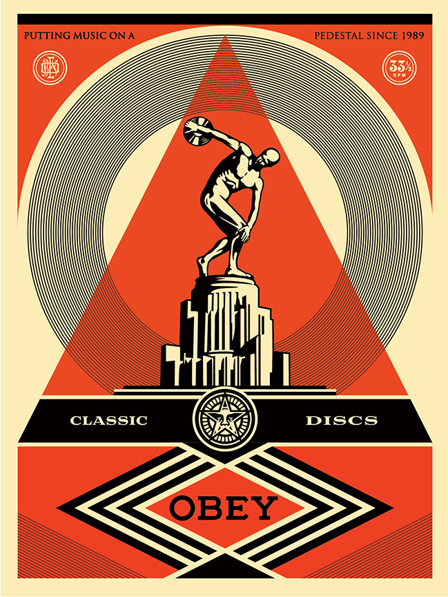 the blot says pedestal screen print by shepard fairey. Black Bedroom Furniture Sets. Home Design Ideas