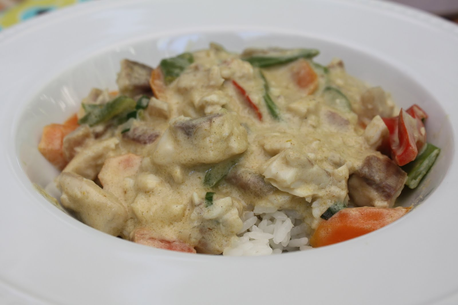 Nicole at Home: Thai green curry with tilapia