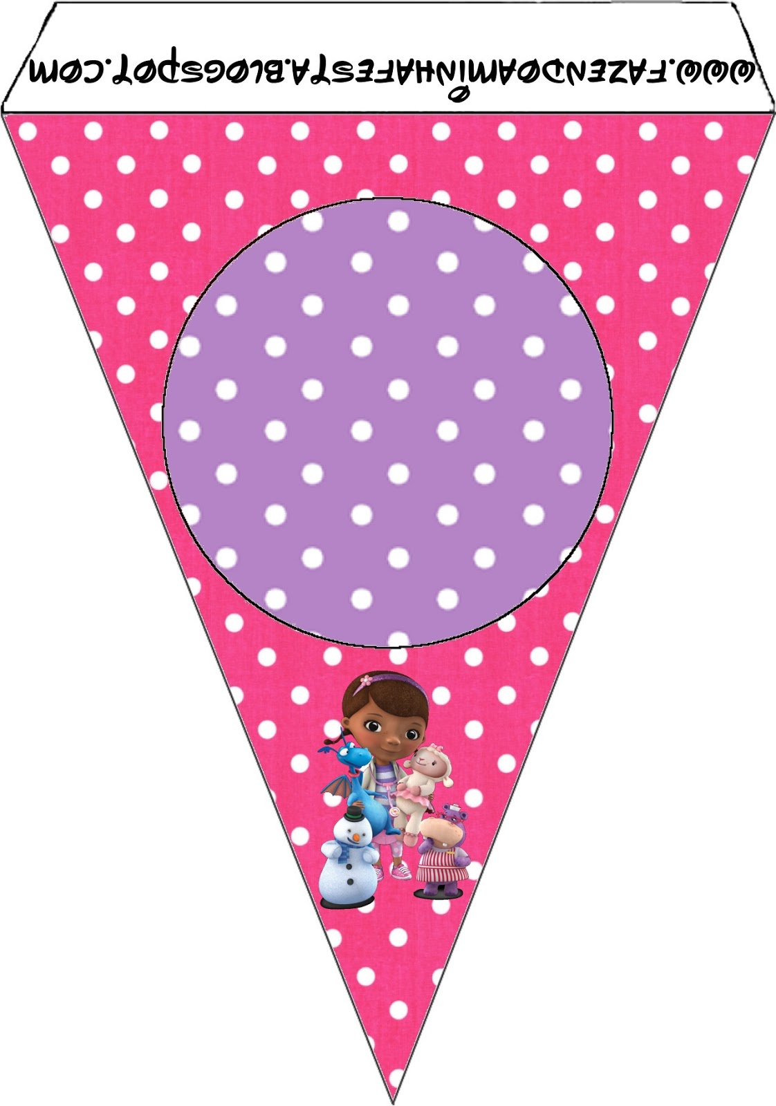 It is a photo of Remarkable Doc Mcstuffins Party Printables