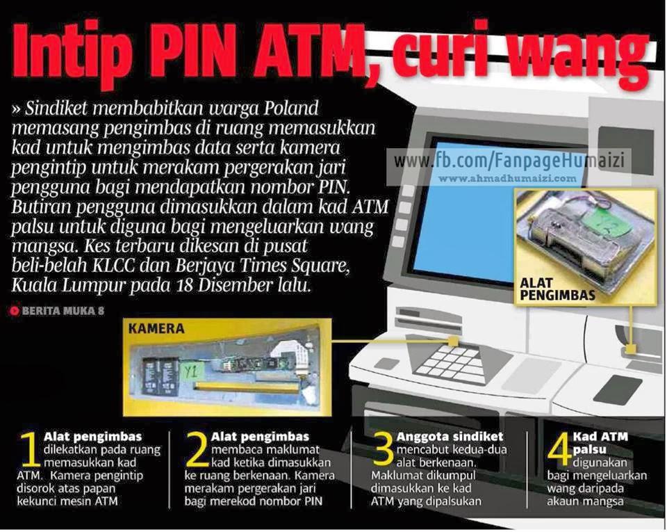 Gambar: Sindiket Guna Alat Intip No Pin Di Mesin ATM