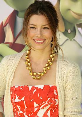 Jessica Biel Gold Byzantine Chain
