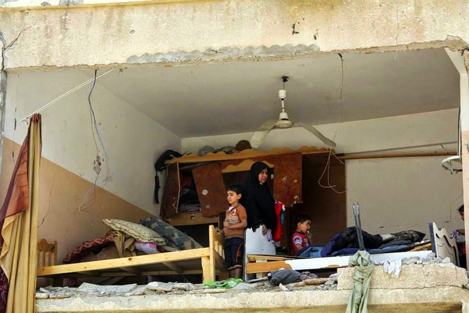 الدمار في حي الشجاعية شرق غزة