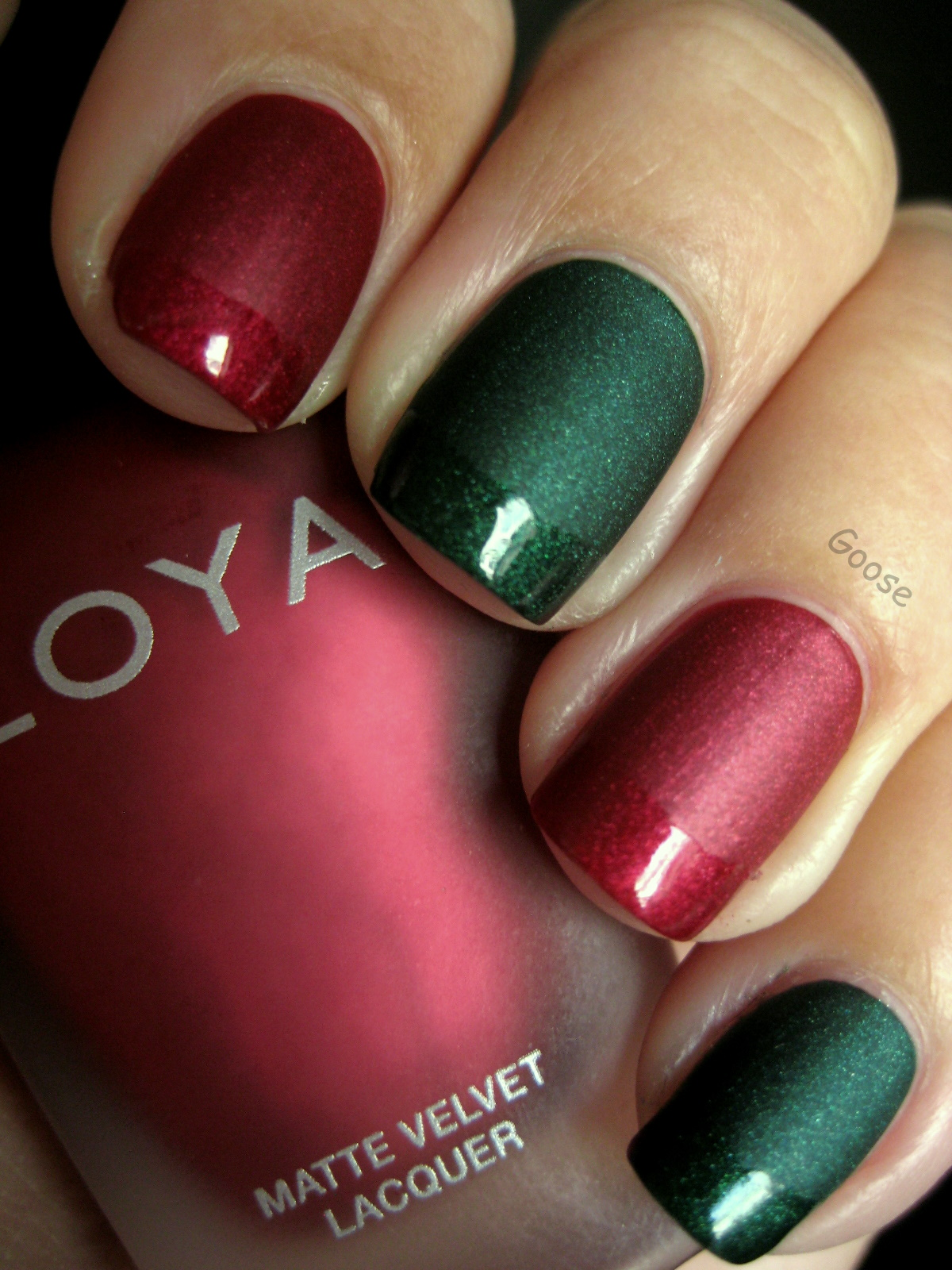Goose\'s Glitter: The 12 Days of Christmas Nails: Day 4 - Red and ...