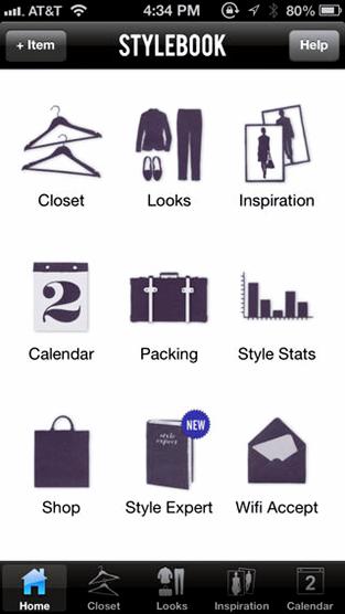 Aplicativos que ajudam a escolher looks app Stylebook