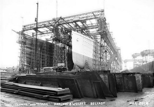 Grandes estructuras históricas en construcción Fotograf%25C3%25ADas+de+la+construcci%25C3%25B3n+del+Titanic+08