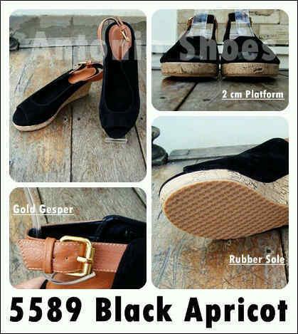 Aneka model sepatu sandal wanita murah ,Model sandal wanita terbaru model Black Apricot