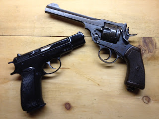 CZ75 and .455 Webly