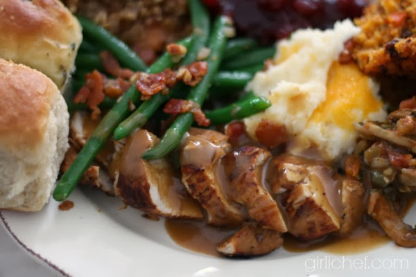 Turkey Tenderloins with Madeira Gravy