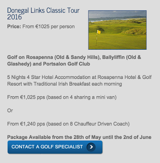 Donegal Links Classic Tour 2016