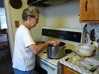 Grandma stirring