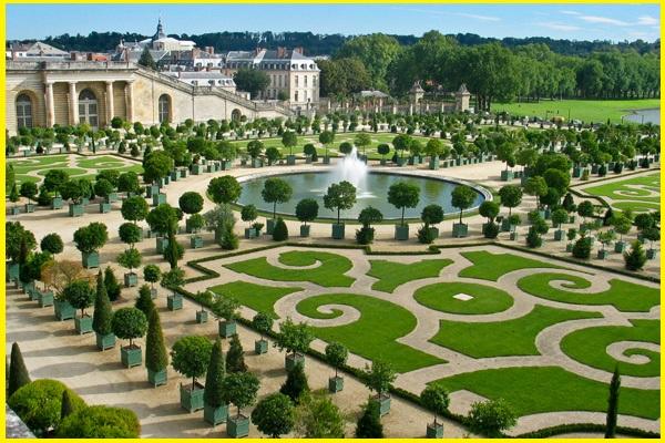 os jardins de Versalhes em toda sua totalidade em apenas um dia