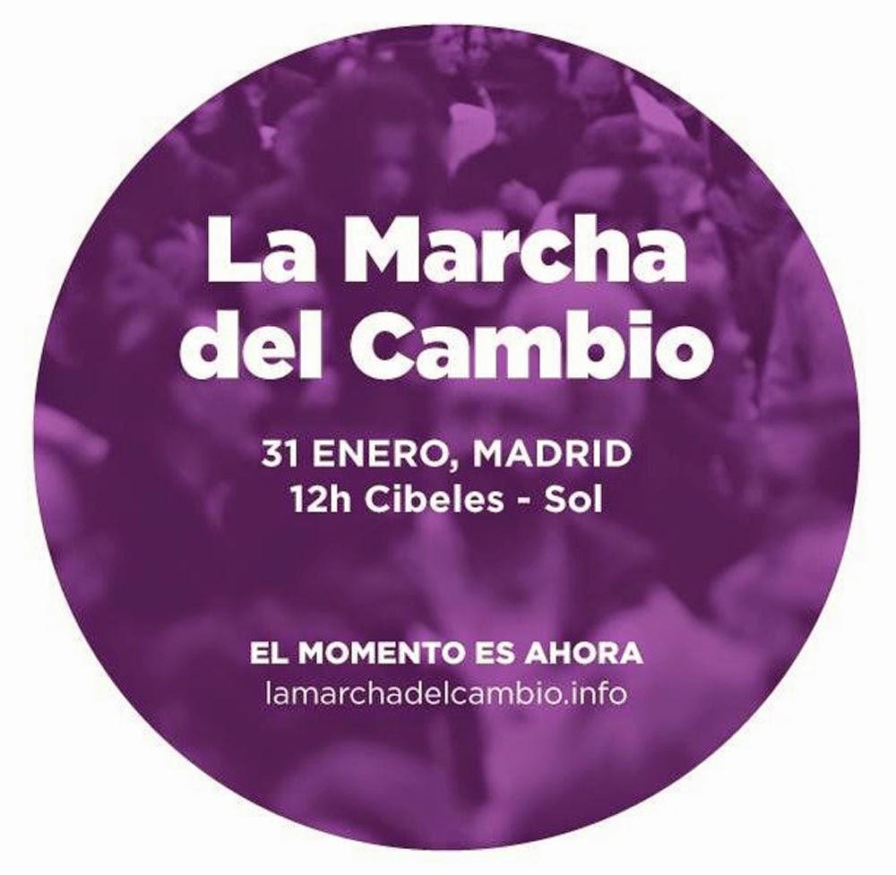 Saltimbanquiclicclic marcha por el cambio 31 enero 2015 for Porque se llama la puerta del sol