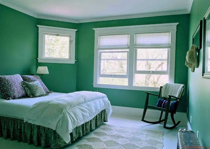 Best wall paint color master bedroom for Paint wall two colors