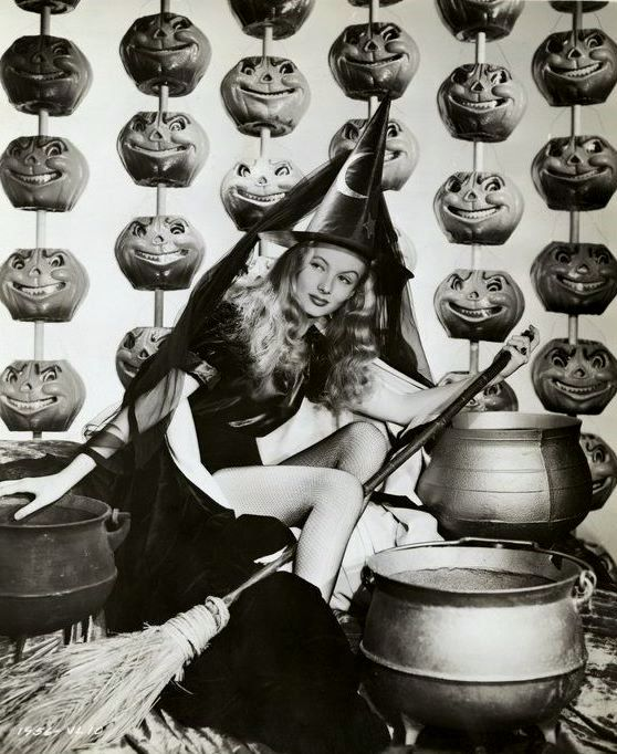 Rosalind Russell Is A Stunner On Her Perfectly Carved Pumpkin Sometimes The Prop Department Really Did Have It Easiest