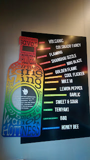 Golden Flame Hot Wings offers 14 different wing sauces including gluten free options