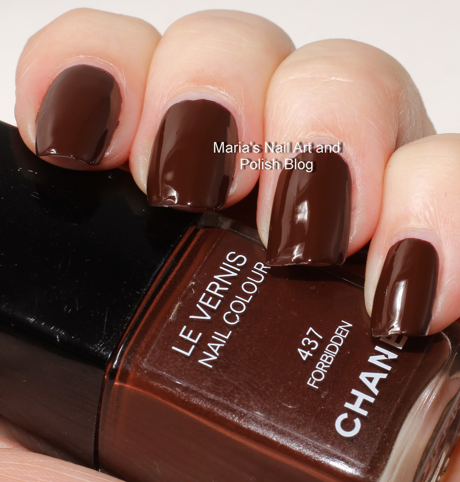 Marias Nail Art And Polish Blog Flushed With Stripes And: Marias Nail Art And Polish Blog: Chanel Forbidden Noirs