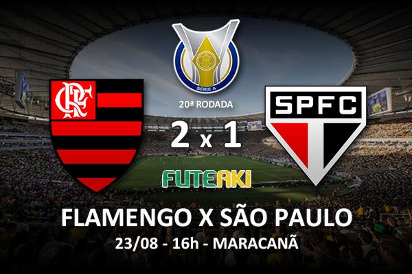 Veja o resumo da partida com os gols e os melhores momentos de Flamengo 2x1 São Paulo pela 20ª rodada do Brasileirão 2015