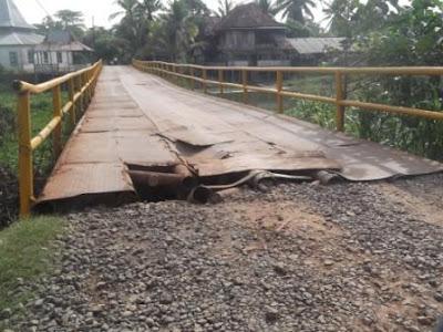 Jembatan Desa Mayapati Rusak Lagi
